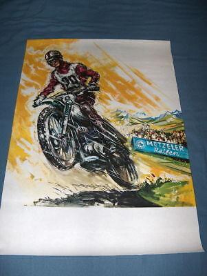 CZ Jawa Poster by Metzeler NOS a beauty ahrma reifen vintage motocross racing for sale  San Jose