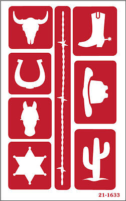 Armour Over n Over Reusable Glass Etching Stencil ~ Western