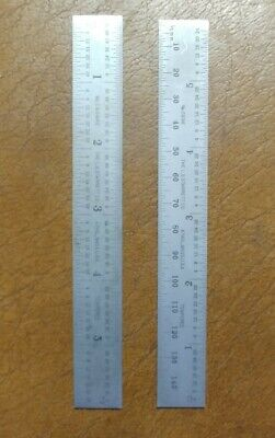 25.4mm Width 1.2mm Thickness Starrett C636-300 Spring Tempered Steel Rule With Millimetre And Inch Graduations 300mm Length