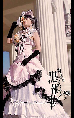 Kuroshitsuji Black Butler Ciel Cosplay costume Kostüm Abendkleid wig Perücke (Ciel Cosplay Kostüm)