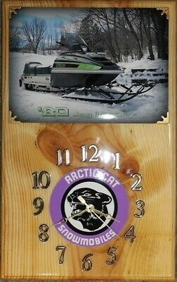 1980 Arctic Cat Jag 3000 F/C snowmobile wood clock