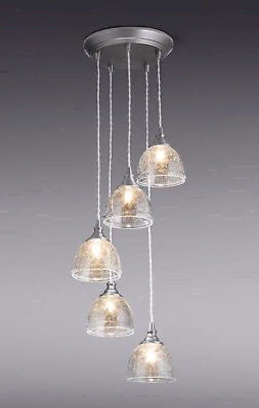 Brand new next bergen 5 light cluster pendant ceiling fitting brand new next bergen 5 light cluster pendant ceiling fitting chandelier mozeypictures Choice Image