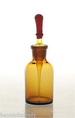 Lab Glass Dropper Bottle Drop Reagent Lab 125ml Amber New
