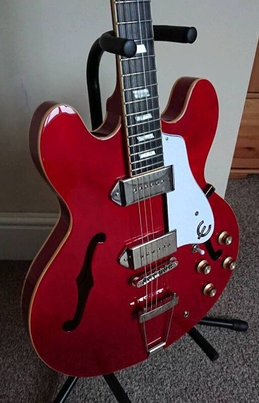 Charitable Epiphone Casino Cherry Electric Full Acoustic Guitar Musical Instruments & Gear