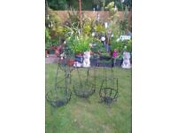 Metal garden baskets