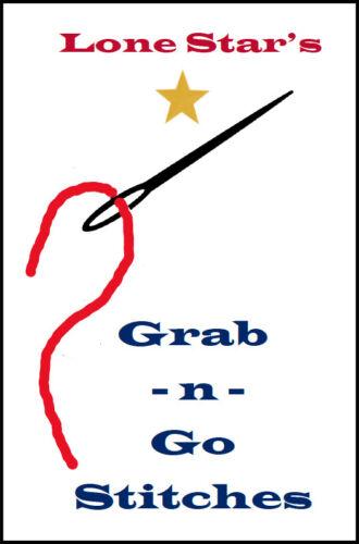 Lone Star Grab N Go Stitches Needlepoint Stitch Book