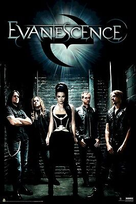 Evanescence    Alley Group 24X36 Music Poster Amy Lee New Rolled