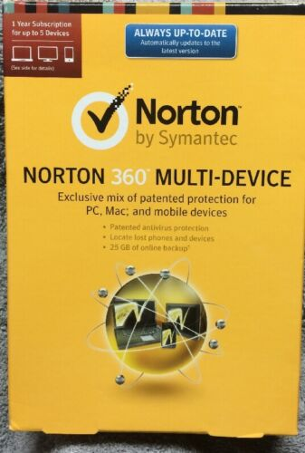 Norton 360 Multi-device 2.0 1 User 5 Devices Pc - Mac - M...