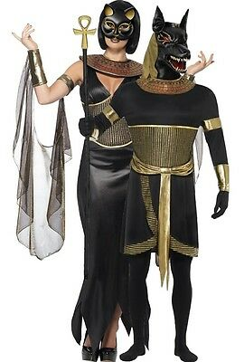 Couples Ladies & Mens Egyptian God Goddess Halloween Fancy Dress Costumes Outfit