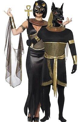 Egyptian Gods Costumes Halloween (Couples Ladies & Mens Egyptian God Goddess Halloween Fancy Dress Costumes)