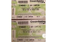 Creamfields 3day camping tickets