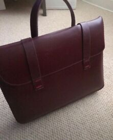Leather music book bag- excellent condition!