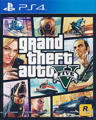 Grand Theft Auto 5 - Sony PS4 Game - GTA V - Brand New & Sealed