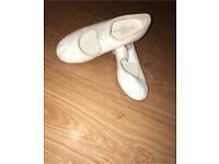 size 13 kids white tap shoes