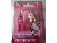 job lot of hello kitty mobile phone straps