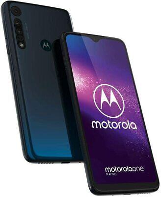 New Motorola One Macro Space Blue 64GB LTE DualSim Unlocked Android Smartphone