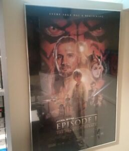 Star Wars Prequel Posters Framed 27x40