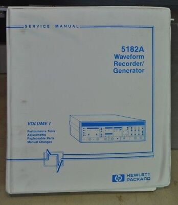 Hp 5182a Waveform Recorder Generator Service Manual