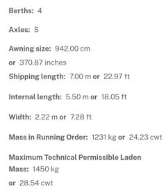 Avondale Argente 550/4 4 berth