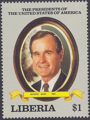 George H W Bush Usa President Honored On Mint Nh 1989 Stamp Liberia  1113
