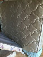 Queen mattress+ box spring $140 firm.  FREE DELIVERY