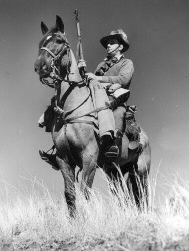 WW2  Photo Australian Cavalry Trooper Australia WWII World War Two ANZAC