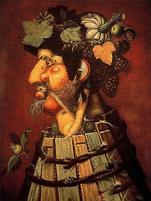 Abstract Oil painting Giuseppe Arcimboldo - The Autumn fruits canvas (Giuseppe Arcimboldo Autumn)