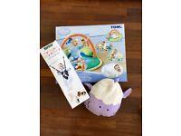 BABY BUNDLE! Disney play mat+doorway bouncer+travel play mat+bumbo+tommee tippee nappy bin+cassettes