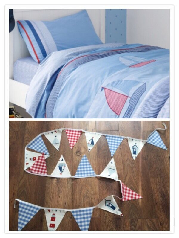laura ashley single bedding nautical theme and matching bunting, s/p free home, Stamshawin Portsmouth, HampshireGumtree - laura ashley single bedding nautical theme and a matching bunting, bedding is 100% cotton in good clean used condition, from pet and smoke free home, collection from Stamshaw, PO2 area of Portsmouth