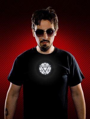 TONY STARK LIGHT UP LED ARC REACTOR MARK VI PROP T-SHIRT (Iron Man Light Up Kostüm)