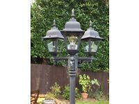 3 Light Head Garden Lamp Post