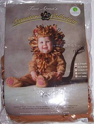 TOM ARMA SIGNATURE COLLECTION LION COSTUME 12 18 months HALLOWEEN OZ