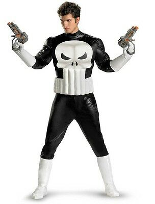 Adult Marvel Comics The Punisher Antihero Frank Castle Skull Suit Muscle - Punisher Costume