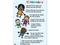 Ofsted registered childminder Beverley 24 years experience. Spaces for children 0-11 years.