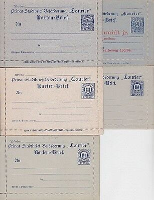 Stadtpost Magdeburg Ganzsachen Sammlung * 5x Kartenbrief, Privatpost Lot