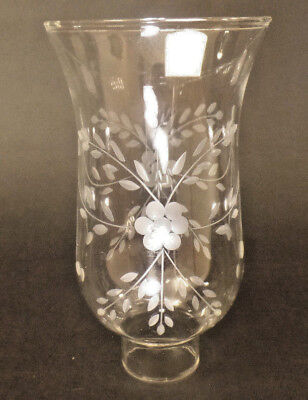 """Clear Flower Glass Hurricane Lamp Shade Candle Chandelier Light, 3 1/2"""" x 6 1/2"""""""