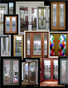 leaded glass French interior doors