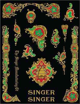Singer Model 28/128 LaVincendora Style Sewing Machine Restoration Decals 4 Color