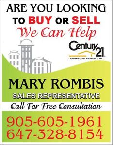 MARY ROMBIS REAL ESTATE - BUYING or SELLING ?