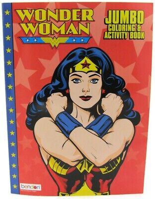 Disney DC Comics Wonder Woman Jumbo Coloring and Activity Book for Kids NEW