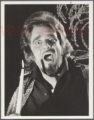Vintage Photo Disc Jockey Man Wolfman Jack w/ Spooky Candle Halloween 687539