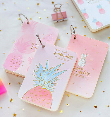 """Pineapple Girl"" 1pc Mini Diary Notebook Cute Pocket Journal Memo Freenote Gift"