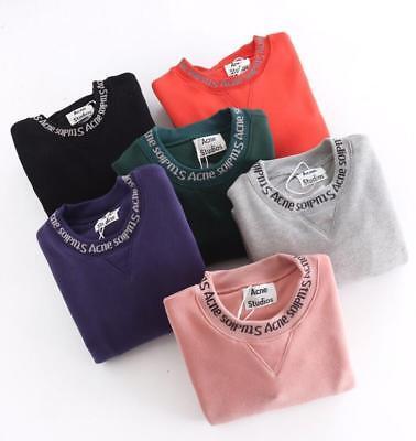 Classic Acne Studios Sweatshirt men women Neckline letter Sweater-Clearance sale