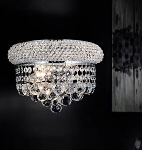 Crystal 2-light wall sconce