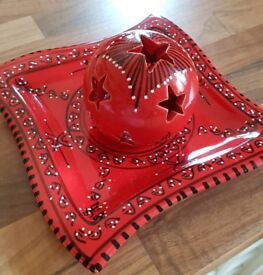 Tea Light Holder & Plate Set