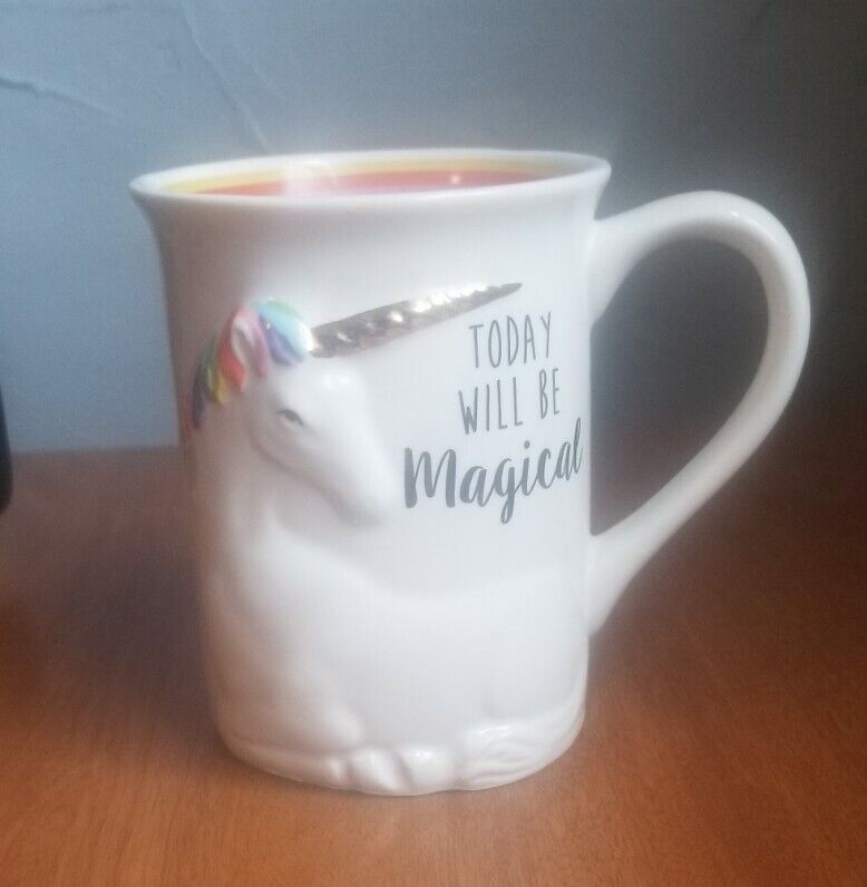 Today Will Be Magical Unicorn Rainbow Coffee Cup Mug Our Name Is Mud