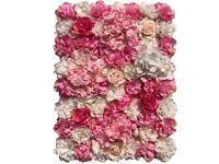 Pink and White Flowerwall Panels Brand New