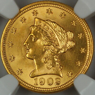 1902 LIBERTY $2.50 QUARTER EAGLE GOLD COIN NGC UNC DETAILS IMPROPERLY CLEANED
