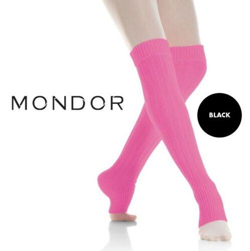 "Mondor® Performance NEW BLACK Dance & Figure Skating LEG WARMERS Adult 24"""