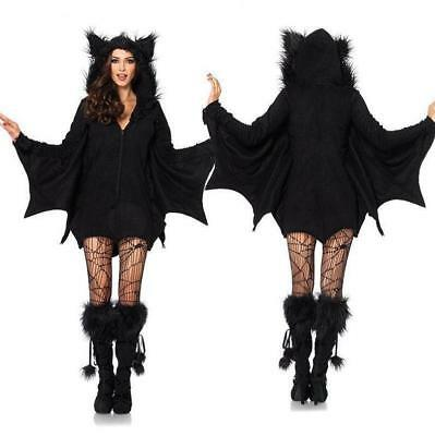 Halloween Batgirl Kostüm Set Fledermaus Vampir Cosplay Fasching (Batgirl Kostüm Halloween)
